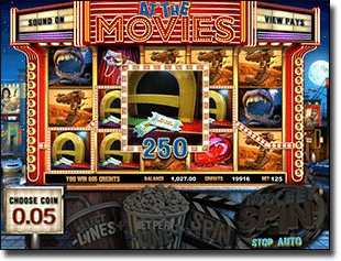 At the Movies Online Video Slot @ G'Day Casino