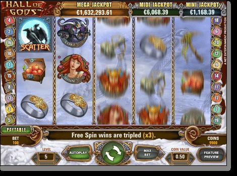 Hall of Gods Online Progressive Slot