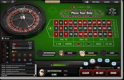 PokerStars Online Roulette