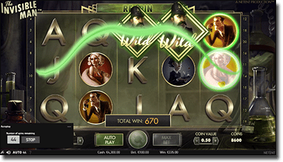 The Invisible Man - Online Video Slot @ G'Day Casino