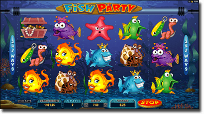 Play Fish Party video pokies for real money