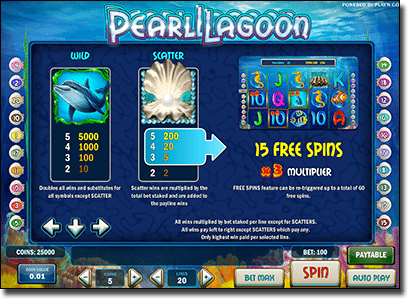Play Pearl Lagoon - Fishing-themed online pokies