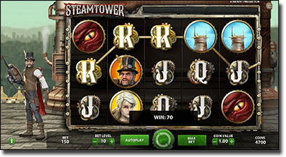 Play Steam Tower for real money online now