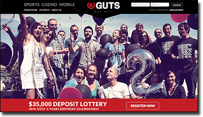 Win $35,000 in Guts Casino second birthday prize giveaway