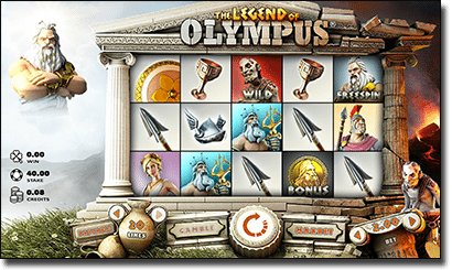 Legend of Olympus online AUD slots
