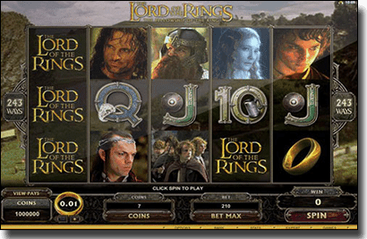 Lord of the Rings online slot by Microgaming