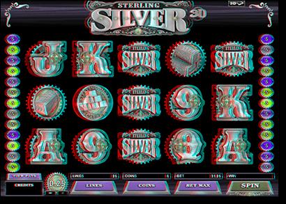 Sterling Silver - Play online 3D pokies