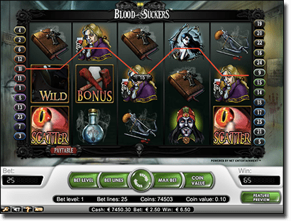 Blood Suckers Halloween pokies game online