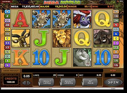 Mega Moolah progressive jackpot pokies game