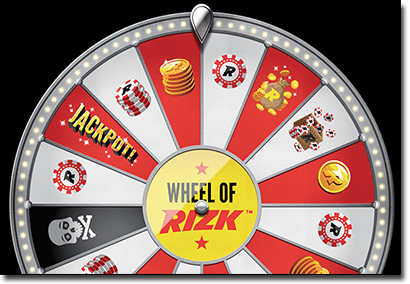 Wheel of Rizk - Win raffle tickets - Online Casino Rizk.com