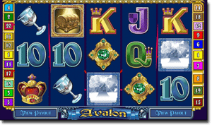 Avalon online pokies game by Microgaming