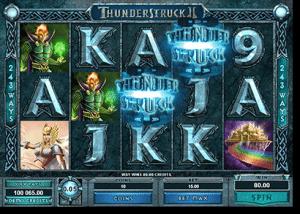 Thunderstruck II online pokies by Microgaming