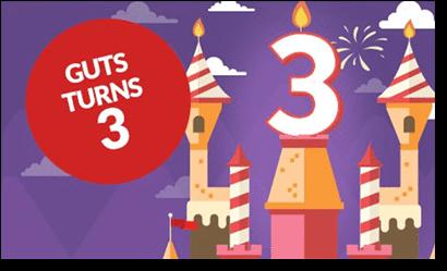Guts Casino turns three years old