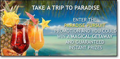 Paradise Pursuit promotion at RoyalVegasCasino.com