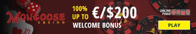 Mongoose Casino welcome bonus
