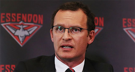 Essendon CEO Xavier Campbell