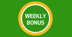 100% bonus match up to $150 every week