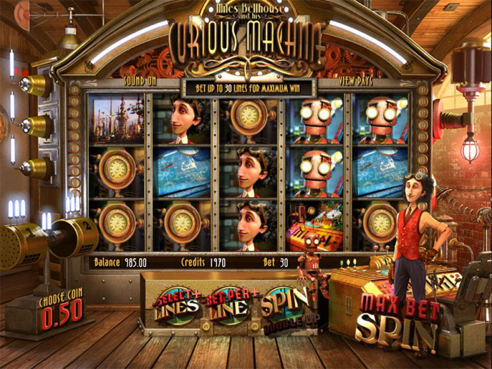 Miles Bellhouse and His Curious Machine online pokie