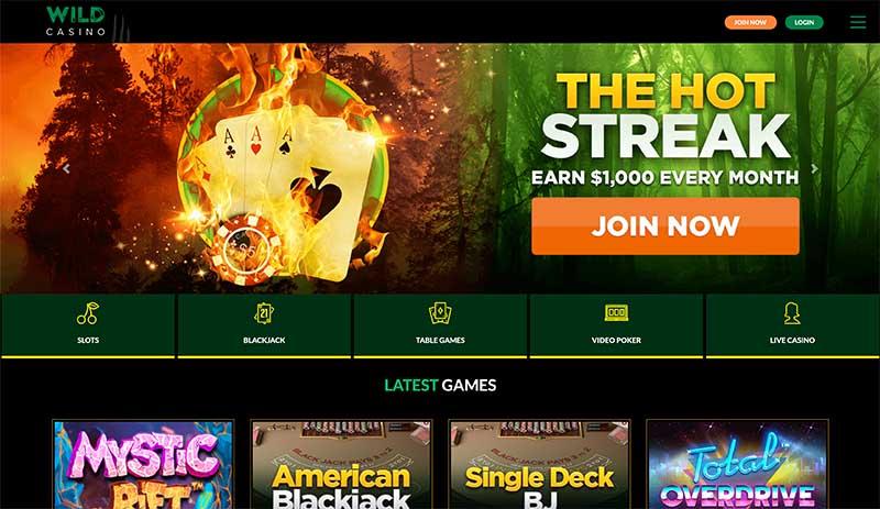 Wild Casino review - Onlie pokies sites